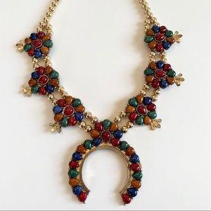 Natasha Multi Color Squash Blossom Necklace